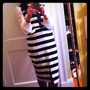 Asos work dress, Black and white sleeveless